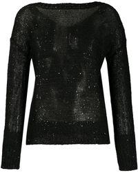 Snobby Sheep Sequin Embellished Jumper - Black