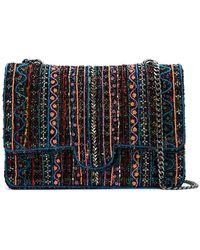 Isla - Embroidered Tweed Maxi Bag - Lyst