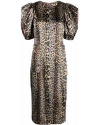 ROTATE BIRGER CHRISTENSEN Katarina Leopard-print Dress - Green