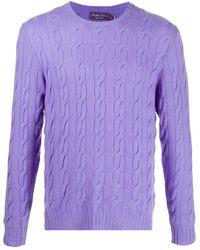 Ralph Lauren Purple Label - カシミア ケーブルニットセーター - Lyst