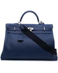Hermès 2000s Pre-owned Kelly 50 2way Bag - Blue