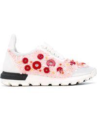 NO KA 'OI Button Embellished Sneakers - White