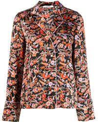10 Crosby Derek Lam Long Sleeve Paisley Print Pyjama Shirt - Black