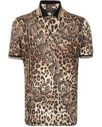 Dolce & Gabbana - レオパード ポロシャツ - Lyst