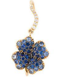 Aurelie Bidermann - 'clover' Sapphire Earring - Lyst
