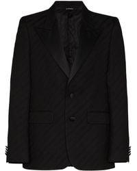 Givenchy サテンラペル ジャケット - ブラック
