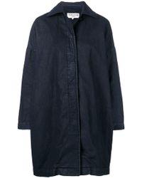YMC - Cocoon Painted Coat - Lyst