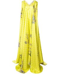 Vionnet Draped Blossom Gown - Yellow