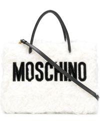 Moschino - Fur Logo Bag - Lyst