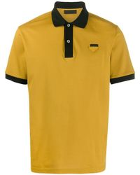 Prada - Poloshirt Met Contrasterende Afwerking - Lyst