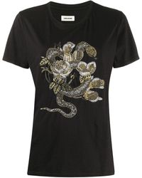 Zadig & Voltaire プリント Tシャツ - ブラック