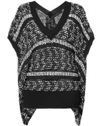 Roland Mouret - Striped Knitted Top - Lyst