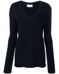 AMI V-neck Sweater - Blue