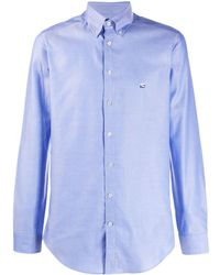 Etro Camisa ajustada de manga larga - Azul