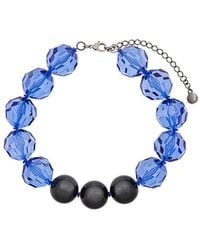 Emporio Armani - Faceted Bead Necklace - Lyst