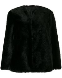 Sara Lanzi Faux-fur Coat - Black