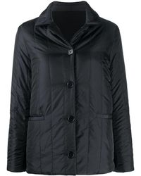 Aspesi Vertically Quilted Jacket - Black