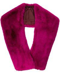 Sies Marjan Jordi Faux Fur Shrug - Purple