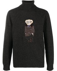 Ralph Lauren Purple Label Polo Bear タートルネック プルオーバー - グレー