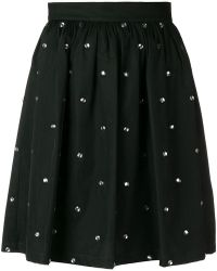 Liu Jo - Crystal Embellished Flared Skirt - Lyst