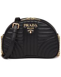 Prada ダイアグラム ショルダーバッグ - ブラック
