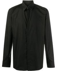 Fendi Bag Bugs-detail Button-up Shirt - Black