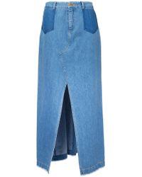 Sea - Front Slit Maxi Skirt - Lyst