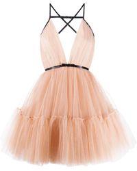 BROGNANO チュール リボン ドレス - ピンク