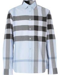 Burberry Camicia a quadri - Blu