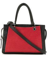 Mara Mac Paneled Tote Bag - Red