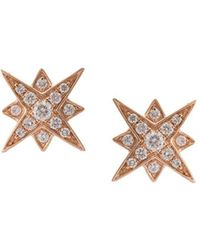 Marchesa - 18kt Rose Gold Star Diamond Studs - Lyst