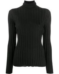 ODEEH ファインニット ポロシャツ - ブラック