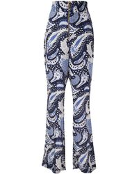 Alice McCALL Paisley Wide Leg Trousers - Blue