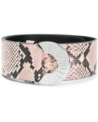 Just Cavalli | Snake Effect Leather Belt | Lyst