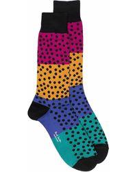 Paul Smith Socken mit Blockstreifen - Schwarz