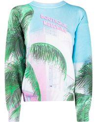 Boutique Moschino パームツリー スウェットシャツ - ブルー