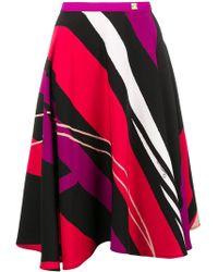 Class Roberto Cavalli - Graphic Print Skirt - Lyst
