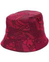34520df7 Versace - Medusa And Greca Print Bucket Hat - Lyst