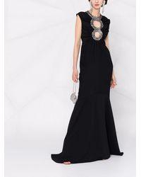 Azzaro カットアウト ドレス - ブラック