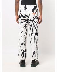 Aries Tie Dye-print Track Trousers - White