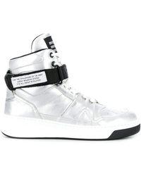 MSGM Zapatillas altas con correa - Metálico