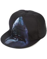 3e2f6d299d4 Givenchy - Logo Embroidered Leather Cap - Lyst