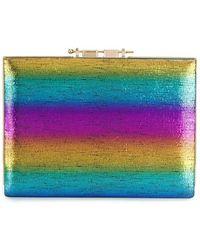 M2malletier Rainbow Box Clutch - Blue