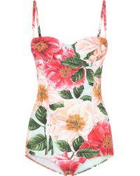 Dolce & Gabbana Badpak Met Bloemenprint - Roze