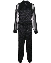 Sacai バイカラー ジャンプスーツ - ブラック