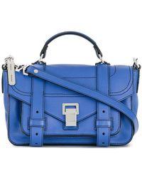 Proenza Schouler Sac à bandoulière PS1 Tiny - Bleu