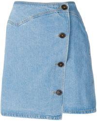 Nanushka - Amita 80's Wash Denim Skirt - Lyst