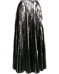 Marni メタリック プリーツスカート - ブラック
