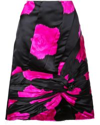 CALVIN KLEIN 205W39NYC ノットディテール スカート - ブラック