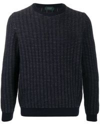 Zanone チャンキーニット セーター - ブルー